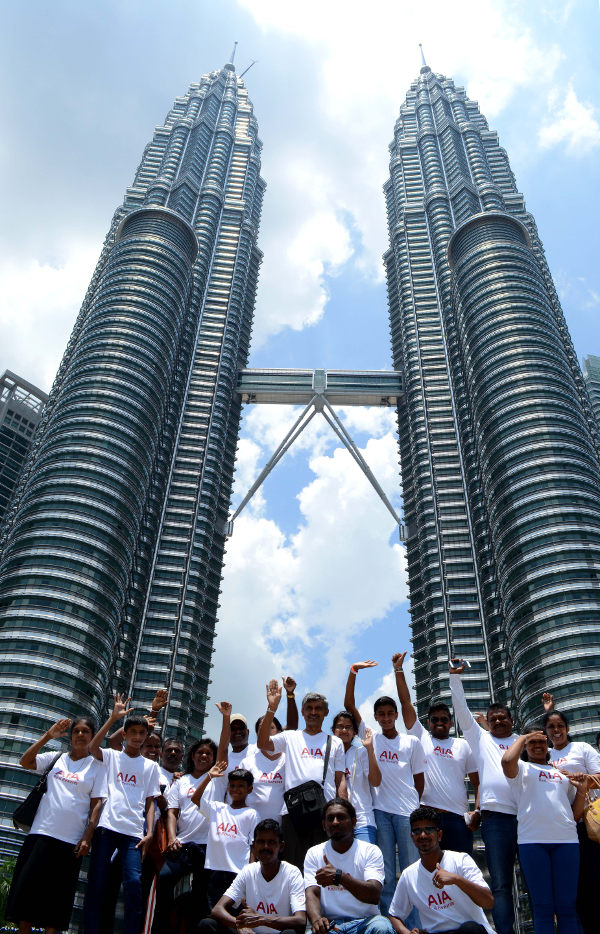 AIA customers at the Petronas Towers